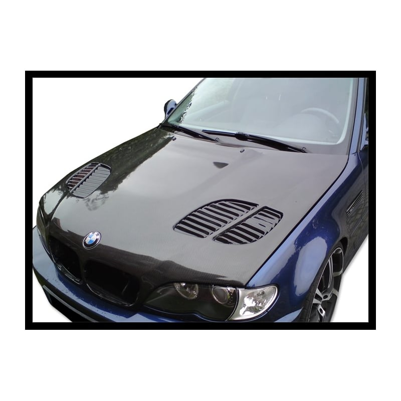 Carbon Hood BMW E46 '02-'06 (restyling) (4 door) with air intake