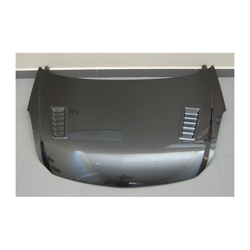 Induction Air Cleaner Hood : Carbon hood opel corsa d with air intake