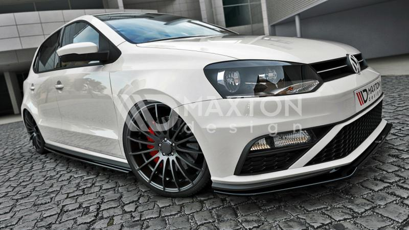 front splitter vw polo mk5 gti vers 2 street performance. Black Bedroom Furniture Sets. Home Design Ideas