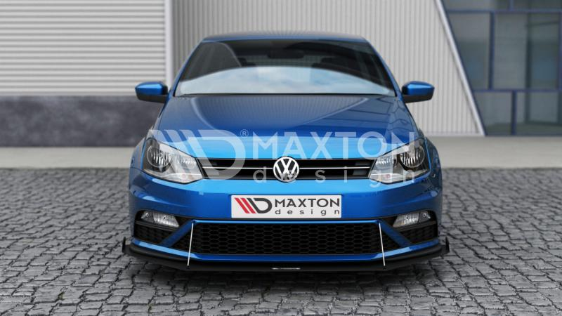 front racing splitter vw polo mk5 gti with wings street performance. Black Bedroom Furniture Sets. Home Design Ideas
