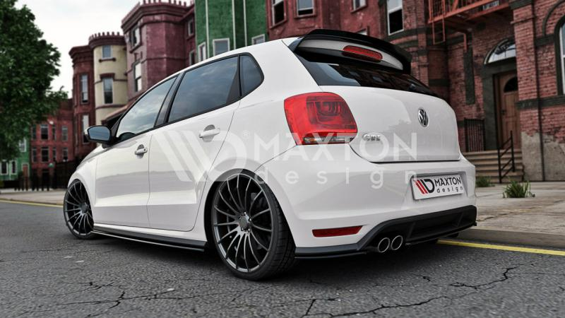 rear splitter vw polo mk5 gti facelift with vertical bar street performance. Black Bedroom Furniture Sets. Home Design Ideas