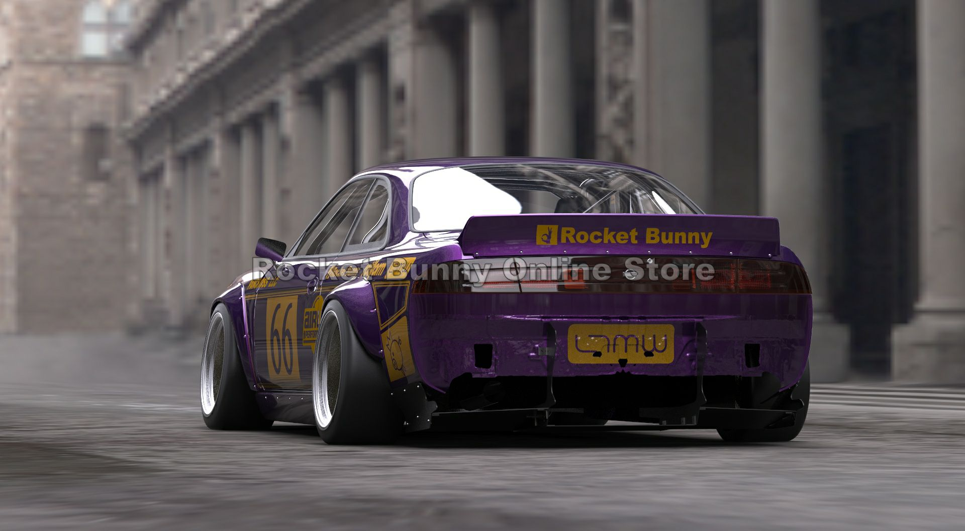 Wide Body Pandem Rocket Bunny Nissan S14 Boss Street Performance